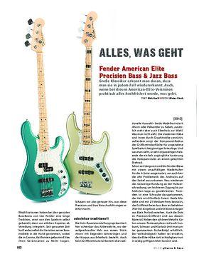Fender American Elite Precision Bass & Jazz Bass