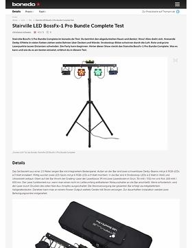 Stairville LED BossFx-1 Pro Bundle Complete