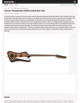 Gibson Thunderbird 2018 Limited Run