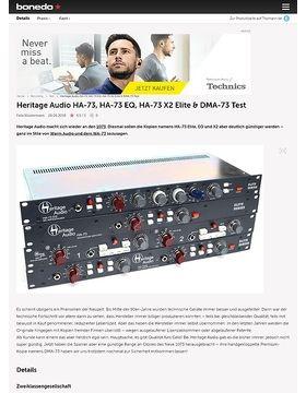 Heritage Audio HA-73, HA-73 EQ, HA-73 X2 Elite & DMA-73