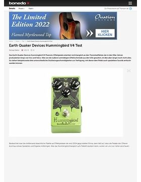 Earth Quaker Devices Hummingbird V4
