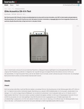 Elite Acoustics D6-8 A Test
