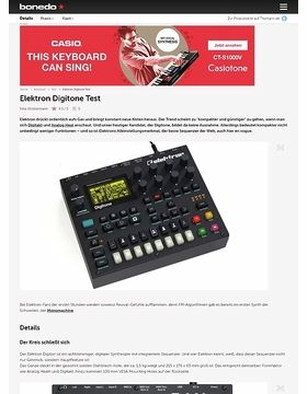 Elektron Digitone Test