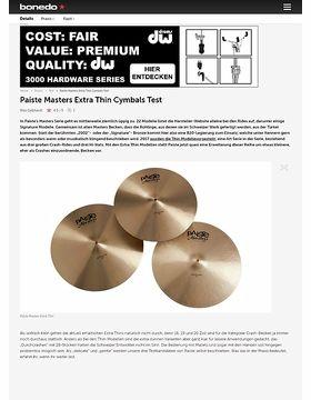 Paiste Masters Extra Thin Cymbals