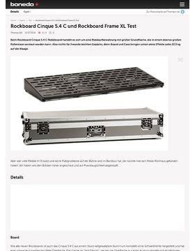 Rockboard Cinque 5.4 C und Rockboard Frame XL