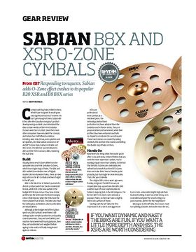 Sabian B8X and XSR O-Zone Cymbals