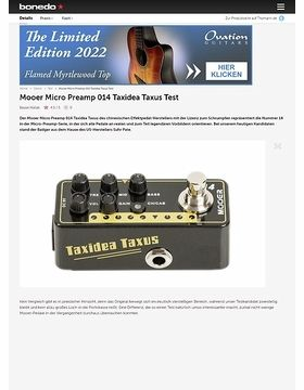 Mooer Micro Preamp 014 Taxidea Taxus