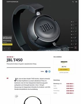 JBL by Harman T-450 Black