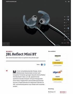 JBL by Harman Reflect Mini BT Black