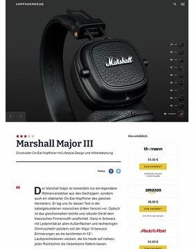 Marshall Major III Black