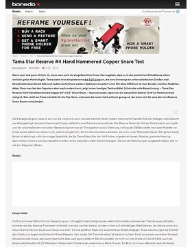 Tama Star Reserve Vol.4 Hand Hammered Copper Snare