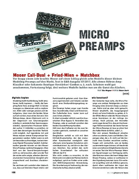Mooer Cali-Dual, Fried-Mien, Matchbox