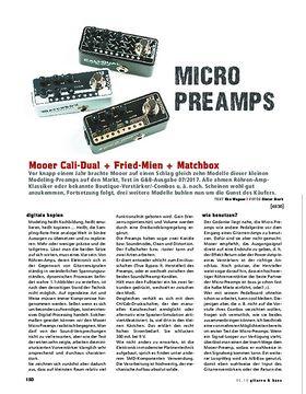 Mooer Cali-Dual, Fried-Mien, Matchbox