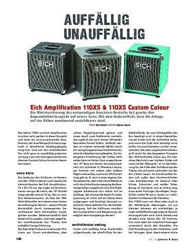 Eich Amplification 110XS & 110XS Custom Colour