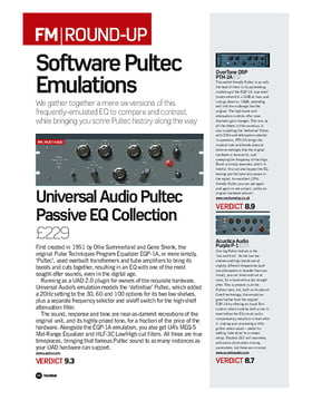 Universal Audio Pultec Passive EQ Collection