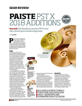 Paiste PST X 2018 Additions