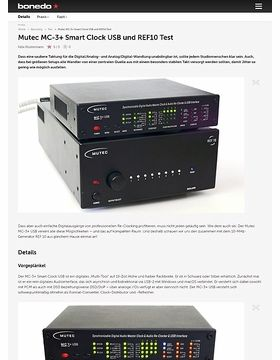 Mutec MC-3+ Smart Clock USB und REF10