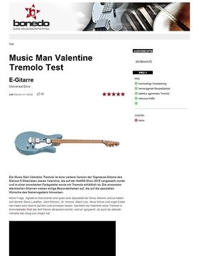 Music Man Valentine Tremolo