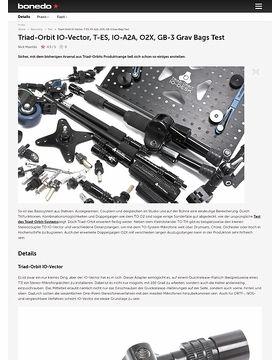 Triad-Orbit IO-Vector, T-ES, IO-A2A, O2X, GB-3 Grav Bags