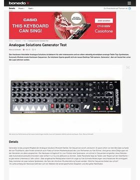 Analogue Solutions Generator
