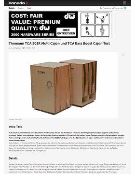 Thomann TCA 501R Multi Cajon und TCA Bass Boost Cajon