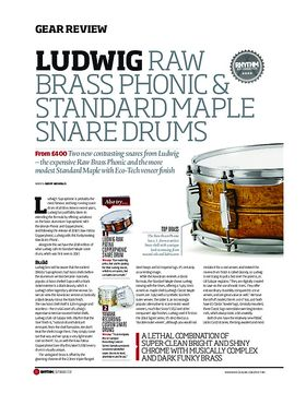 Ludwig Raw Brass Phonic & Standard Maple Snare Drums