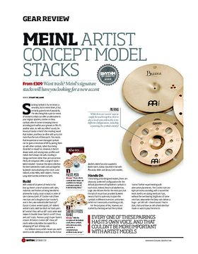 Meinl Artist Concept Model Stacks
