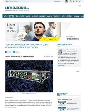 Sound Devices MixPre-10M, -6M, -3M