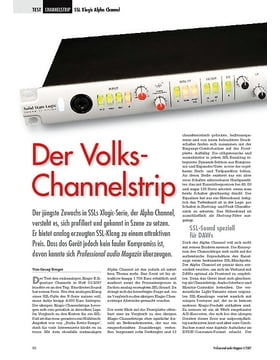 Der Volks-Channelstrip SSL Xlogic Alpha Channel