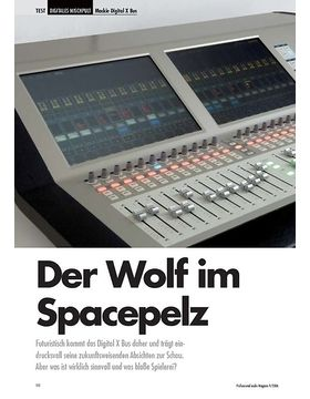 Der Wolf im Spacepelz Mackie Digital X Bus