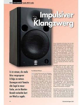 Impulsiver Klangzwerg Yamaha MSP5 Studio