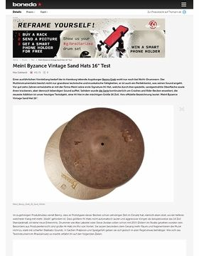"Meinl Byzance Vintage Sand Hats 16"""
