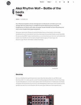 Vergleichstest: Korg Electribe vs Akai Rhythm Wolf