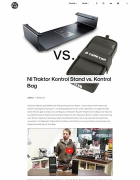 NI Traktor Kontrol Stand vs. Kontrol Bag