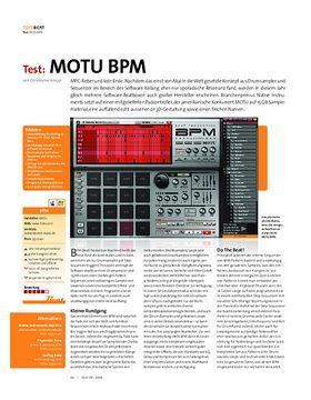 Test: MOTU BPM