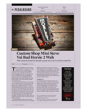 Custom Shop Mini Steve Vai Bad Horsie 2 Wah
