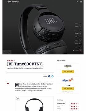 JBL by Harman T600 BTNC Black