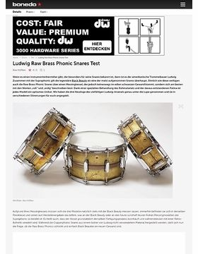 Ludwig Raw Brass Phonic Snares