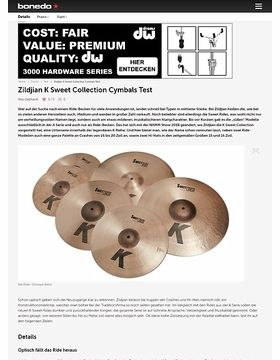 Zildjian K Sweet Collection Cymbals