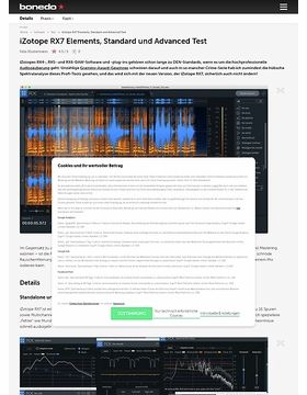 iZotope RX7 Elements, Standard und Advanced