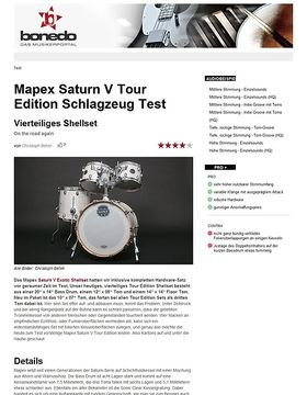 Mapex Saturn V Tour Edition Schlagzeug Test