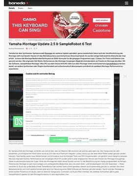 Yamaha Montage Update 2.5 & SampleRobot 6