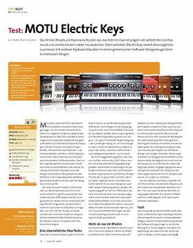 Test: MOTU Electric Keys
