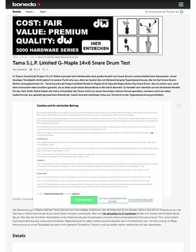 Tama S.L.P. Limited G-Maple 14x6 Snare Drum