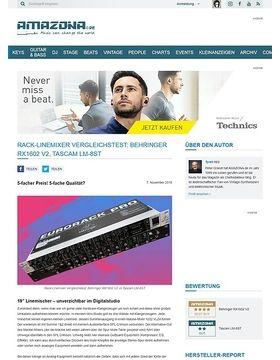 Rack-Linemixer Vergleichstest: Behringer RX1602 vs Tascam LM-8ST