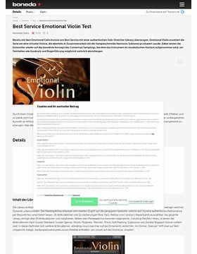 Best Service Emotional Violin