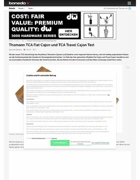 Thomann TCA Flat Cajon und TCA Travel Cajon