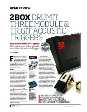 2Box Drumit Three Module & Trigit Acoustic Triggers