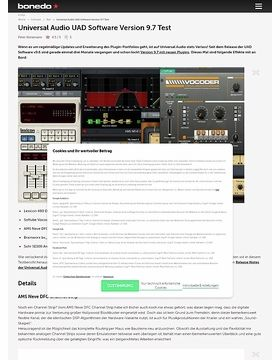Universal Audio UAD Software Version 9.7