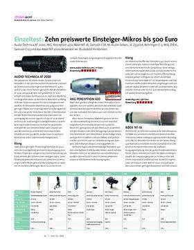 Einzeltest: Zehn preiswerte Einsteiger-Mikros bis 500 Euro